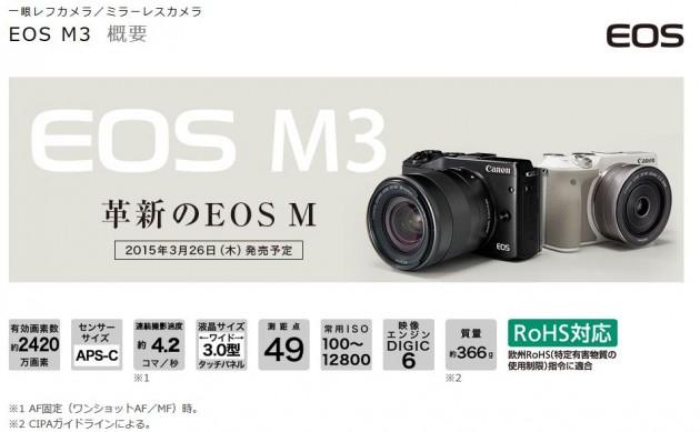 キヤノン EOS M3