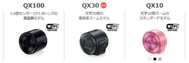 SONY デジカメ QXシリーズ
